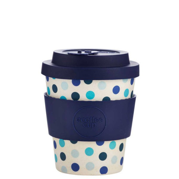 "Ecoffee cup ""BLUE POLKA"" 240 ml"